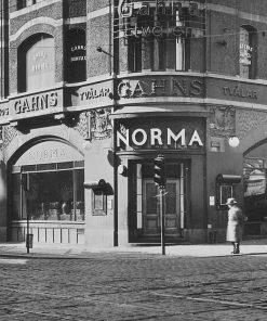 Linnedamast - Duk från restaurang NORMA 1935 vasagatan kungsgatan