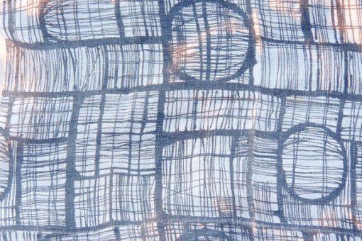 Retrotextil - Retrotyg duk 1950-tal tryckt på vävt linne detalj