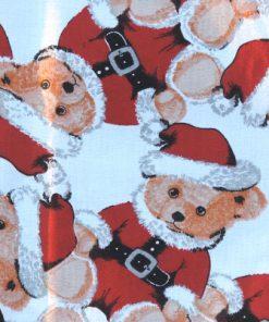 Tomtetyg - Nallebjörnar på tryckt bomullstyg detalj