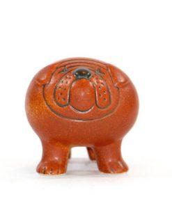 Bulldog – Figurin signerad Lisa Larson Gustavsberg