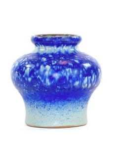 Strehla 1439 – Keramikvas fint melerad kobolt blå