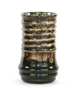 Keramikvas – Strehla Keramik spiral Fat Lava helhet