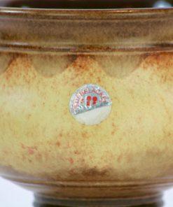 Ü-Keramik skål på fot, pokal Überlacker 378/16 detalj folie-etikett