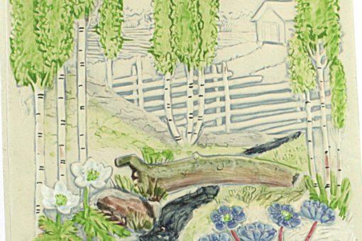 Väggtavla JIE Gantofta var av Aimo Nietosvuori detalj