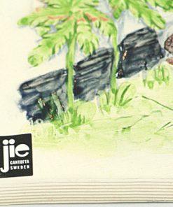 Väggtavla JIE Gantofta var av Aimo Nietosvuori etikett