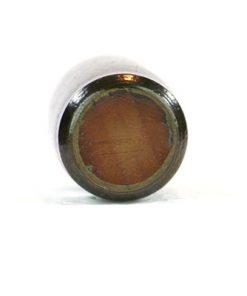 Miniatyrvas Wallakra glaserad gronbrun stengods