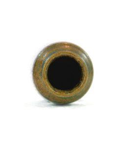 Miniatyrvas Wallakra glaserad gronbrun stengods oppning