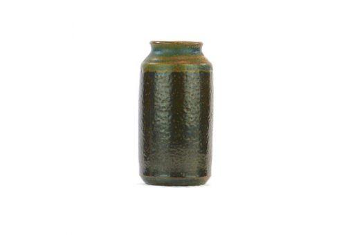 Miniatyrvas Wallakra glaserad gronbrun stengods overblick