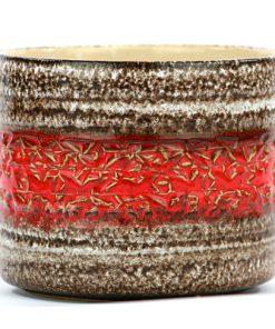Keramikkruka – ytterfoder Spara Keramik W Germany rod brun
