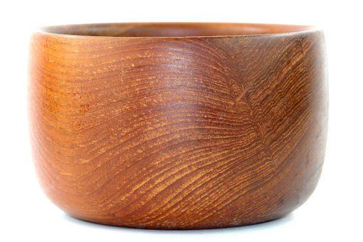 Teakskål – Träskål av teak från Karl Holmbergs i Gotene insida adring