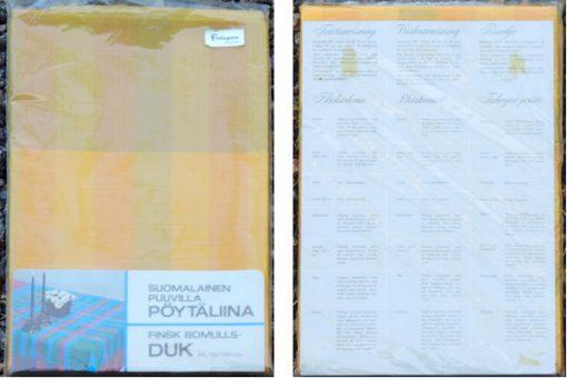 Finlayson finsk bomullsduk i originalförpackning 1970-tal originalforpackning
