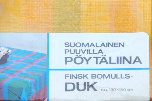 Finlayson finsk bomullsduk i originalförpackning 1970-tal forpackning