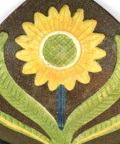 Gabriel keramik - Solrosfat keramikfat stämplat S10 detalj framsida