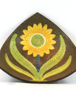 Gabriel keramik - Solrosfat keramikfat stämplat S10 blomma