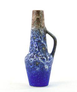 Steuler keramikvas - Koboltblå spracklig glasyr helhet