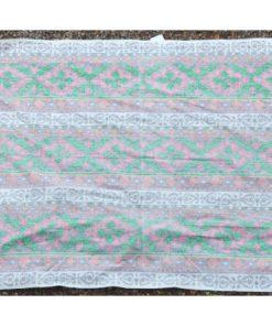 Retrotyg – Jultextil mustigt tryckt bomullstyg 80-tal helhet baksida