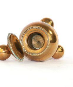 Gusums Bruk - Bläckhorn klotformat av massing undersida helhet lcok oppning