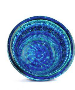 Bitossi Rimini Blue keramikskal design Aldo Londi insida