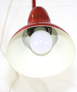 Skrivbordslampa - Rod plat retro 1960-tal insida