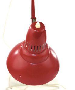 Skrivbordslampa - Rod plat retro 1960-tal tryckknapp