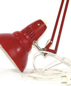 Skrivbordslampa - Rod plat retro 1960-tal profil