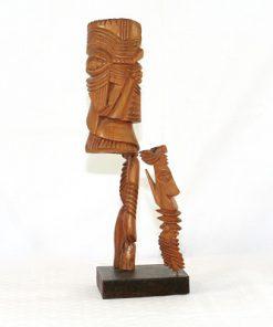Carl-Axel Lunding träskulptur två figurer pa sockel 1952