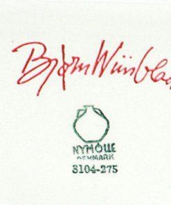 Bjorn Wiinblad fat 3104-275 med kanter Nymolle detalj signatur
