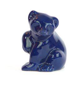 Bjornfigurin – Bla bjorn keramik chamotte eller porslin helhet