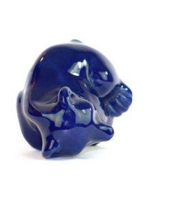 Bjornfigurin – Bla bjorn keramik chamotte eller porslin huvudsida