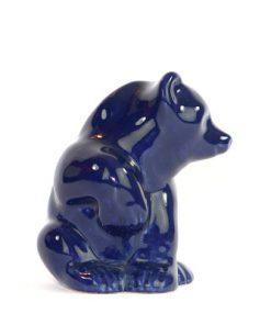 Bjornfigurin – Bla bjorn keramik chamotte eller porslin sida