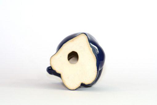 Bjornfigurin – Bla bjorn keramik chamotte eller porslin undersida