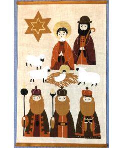 Retro bonad Jesus fodelse - Tre vise mannen vepa helhet