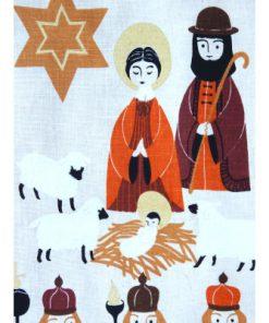Retro bonad Jesus fodelse - Tre vise mannen vepa detalj fram