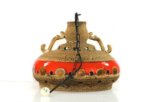 Taklampa Jopeko eller Herda - Retro fat lava keramik kedja