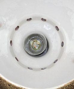 Taklampa Jopeko eller Herda - Retro fat lava keramik detalj insida