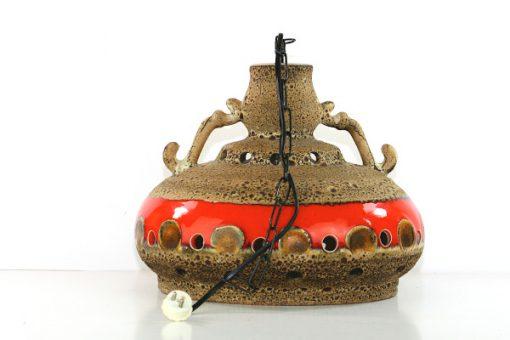 Taklampa Jopeko eller Herda - Retro fat lava keramik med takkedja