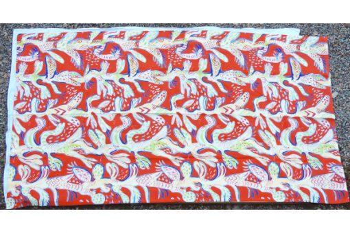 Ulrica Hydman Vallien Kinnasand textil vaggvepa korall