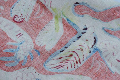 Ulrica Hydman Vallien Kinnasand textil vaggvepa korall baksida