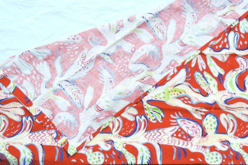 Ulrica Hydman Vallien Kinnasand textil vaggvepa korall organiskt monster horna