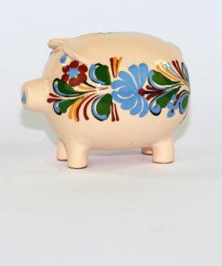 Spargris - Figurin traditionell av keramik med kurbitsmonster sida