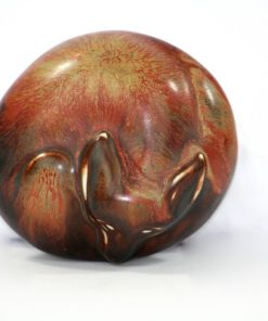 Gunnar Nylund sovande rav – Figurin for Rorstrand ovansida