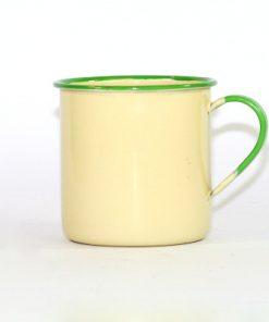 Kockums emaljmugg - Cream Lux mugg 9 cm helhet