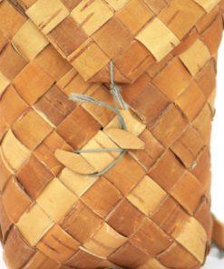 Naverkont hand-flatad liten dockformat med ryggband detalj framsida