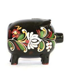 Spargris – Piggybank keramik allmoge svart & kurbitsmonster helhet