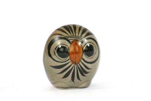 Tonala Keramik - Figurin uggla från Jalisco Mexico helhet