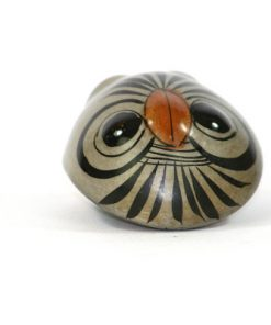 Tonala Keramik - Figurin uggla från Jalisco Mexico ovansida