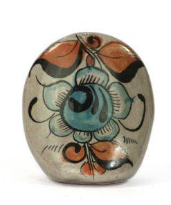 Tonala Keramik - Figurin uggla från Jalisco Mexico ryggsida