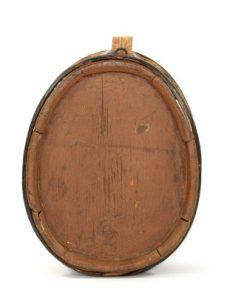 IWSO brannvins-stanka kagge bomarke antik 1800-tal baksida