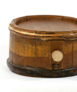 IWSO brannvins-stanka kagge bomarke antik 1800-tal korp och oppning