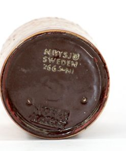 Nittsjo Sweden 2665-NI Keramikvas i cylinder-form botten stampel